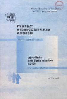 Rynek pracy w województwie śląskim w 2000 roku