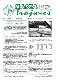 Nasza Trójwieś, R. 11, nr 1 (114), 2003