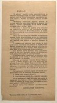 Rodacy! Warszawa-Łódź-Lublin, dn. 7 października 1918 r. Zjednoczenie Narodowe
