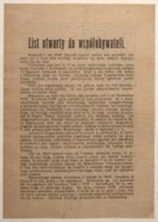 List otwarty do współobywateli