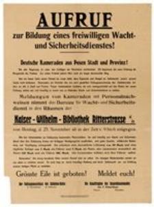 Deutsche Kameraden aus Posen Stadt und Provinz!