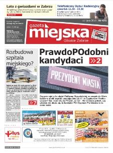 Gazeta Miejska Gliwice Zabrze, nr 476, 2010