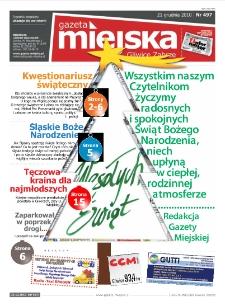 Gazeta Miejska Gliwice Zabrze, nr 497, 2010