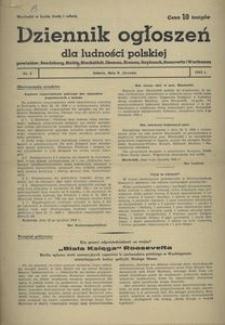 Dziennik Ogłoszeń Dla Ludności Polskiej, 1943, nr 2