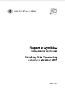 Raport z wyników w województwie opolskim. Narodowy Spis Powszechny Ludności i Mieszkań 2011