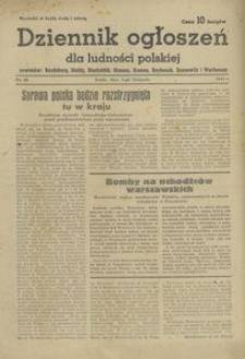Dziennik ogłoszeń dla ludności polskiej 1944, nr 86