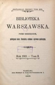 Biblioteka Warszawska, 1903, T. 2