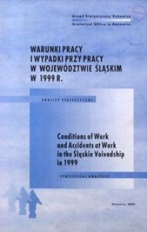 Warunki pracy i wypadki przy pracy w województwie śląskim w 1999 r.