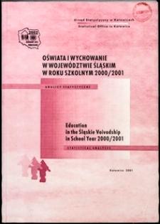 Oświata i wychowanie w województwie śląskim w roku szkolnym 2000/2001
