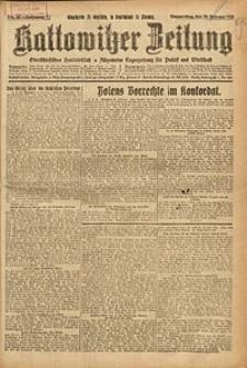Kattowitzer Zeitung, 1925, Jg. 57, nr46