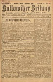 Kattowitzer Zeitung, 1925, Jg. 57, nr81