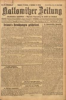 Kattowitzer Zeitung, 1925, Jg. 57, nr85