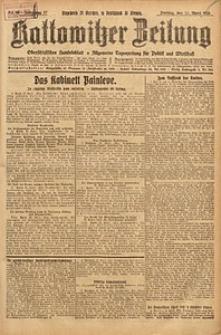 Kattowitzer Zeitung, 1925, Jg. 57, nr86