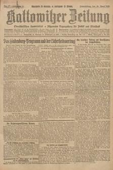 Kattowitzer Zeitung, 1925, Jg. 57, nr97