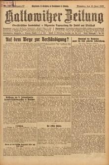 Kattowitzer Zeitung, 1925, Jg. 57, nr140