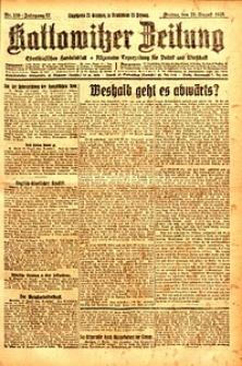 Kattowitzer Zeitung, 1925, Jg. 57, nr189