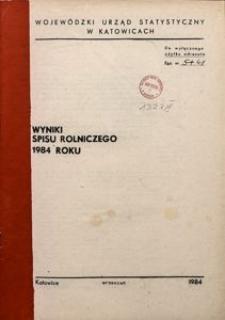 Wyniki spisu rolniczego 1984 roku