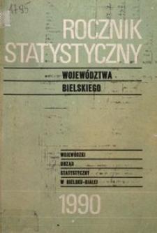 Rocznik Statystyczny Województwa Bielskiego, 1990, R. 15
