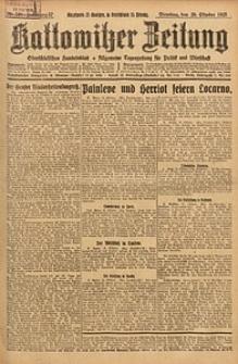 Kattowitzer Zeitung, 1925, Jg. 57, nr240