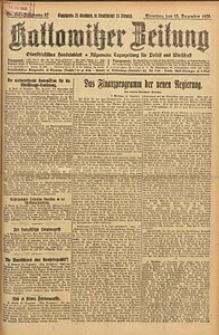 Kattowitzer Zeitung, 1925, Jg. 57, nr287