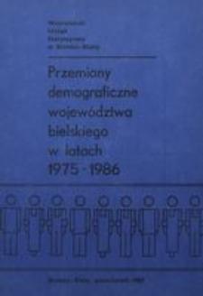 Przemiany demograficzne województwa bielskiego w latach 1975-1986