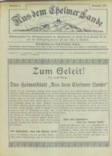 Aus dem Chelmer Lande, 1926, [Jg. 2], nr 1