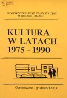 Kultura w latach 1975-1990