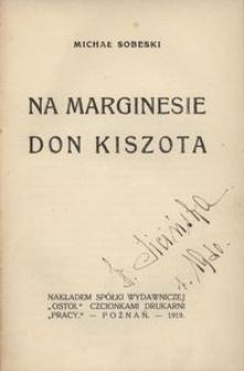 Na marginesie Don Kiszota