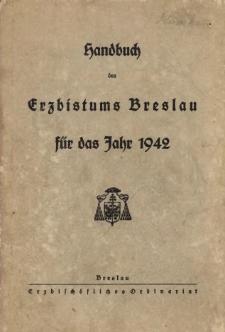 Handbuch des Erzbistums Breslau für das Jahr 1942