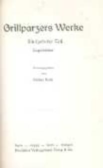 Grillparzers Werke : in fünfzehn Teilen. T. 15. Tagebücher.