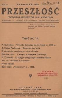 Przeszłość. Czasopismo historyczne dla wszystkich 1932, nr 12