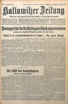 Kattowitzer Zeitung, 1930, Jg. 62, nr50