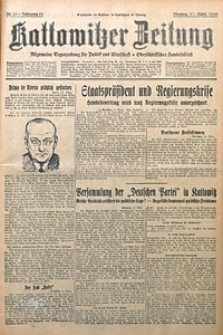 Kattowitzer Zeitung, 1930, Jg. 62, nr63