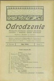 Odrodzenie, 1924, R. 4, z. 3