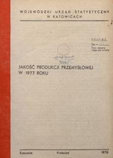 Jakość produkcji przemysłowej w 1977 roku