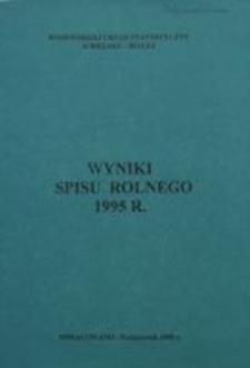 Wyniki spisu rolniczego 1995 r.