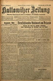 Kattowitzer Zeitung, 1930, Jg. 62, nr162