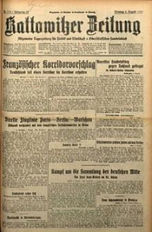 Kattowitzer Zeitung, 1930, Jg. 62, nr178