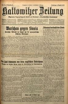 Kattowitzer Zeitung, 1930, Jg. 62, nr179