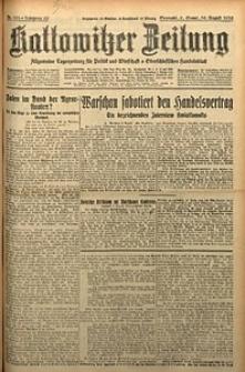 Kattowitzer Zeitung, 1930, Jg. 62, nr183