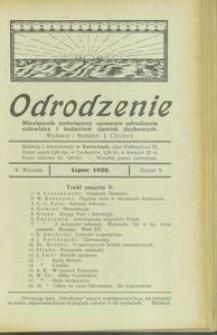 Odrodzenie, 1925, R. 5, z. 5
