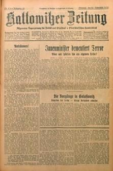 Kattowitzer Zeitung, 1930, Jg. 62, nr274