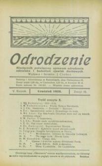 Odrodzenie, 1925, R. 5, z. 10