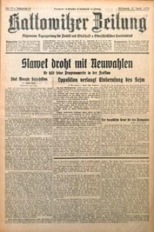 Kattowitzer Zeitung, 1930, Jg. 62, nr77