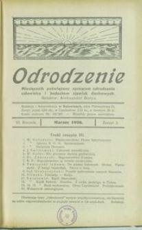 Odrodzenie, 1926, R. 6, z. 3