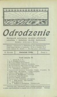 Odrodzenie, 1926, R. 6, z. 4