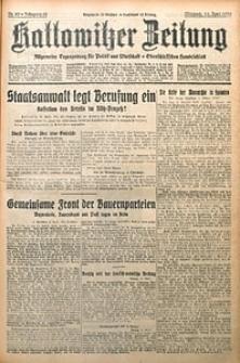 Kattowitzer Zeitung, 1930, Jg. 62, nr89