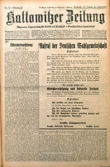 Kattowitzer Zeitung, 1930, Jg. 62, nr92