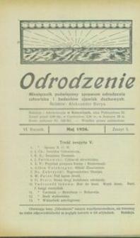 Odrodzenie, 1926, R. 6, z. 5
