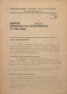 Eksport województwa katowickiego w 1980 roku